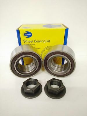 2 X Front Wheel Bearing Kit W/ Abs + Nut Fit Ford Mondeo 2000-2009 Tddi Tdci