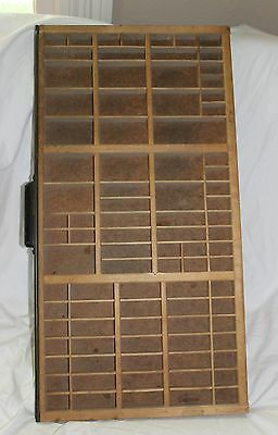 Vtg Large Hamilton Printer's Typeset Wooden Tray Drawer Shadow Box Display Case!