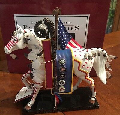 TRAIL OF HONOR, Trail Of Painted Ponies, 1E 2676, NEW Resin Figurine, Box, Tag.