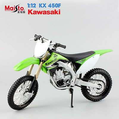 1:12 scale KAWASAKI KX 450F Diecast metal Motorcycle model Motocross car toys