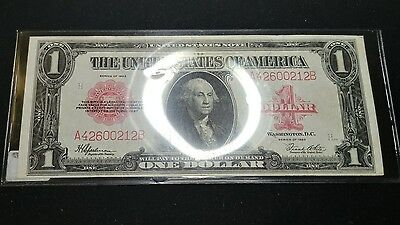 1923 Red Seal 1 Dollar Note