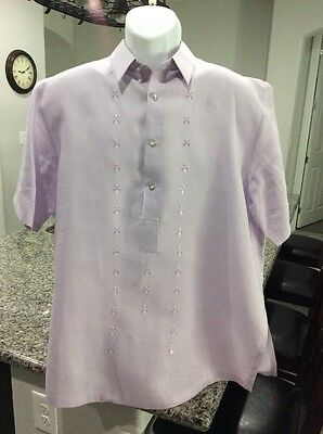 Famous Onesimus Mens Barong Tagalog Size Large