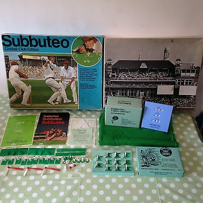 Vintage Subbuteo Table Top Game Cricket Club Edition - RARE 1970's Plus Extras
