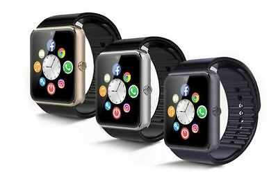 NEW 2017 GT08 Bluetooth Smart Watch Phone +Camera SIM Slot For Android IOS-UK