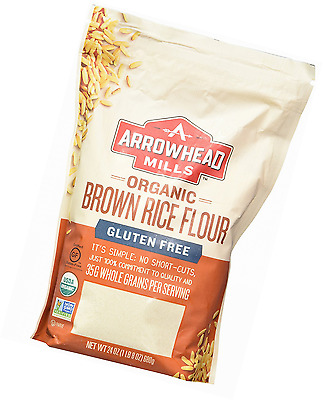 Arrowhead Mills Organic Gluten Free Brown Rice Flour, 24 Ounce (Pack of 6)