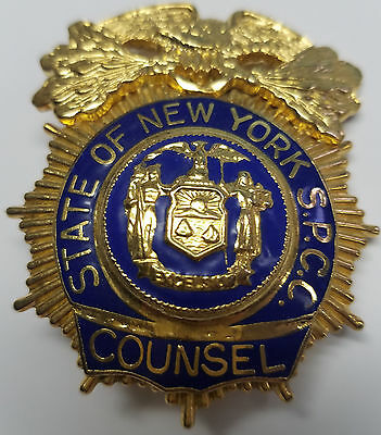 State of New York S.P.C.C. - Counsel Badge - Defunct Agency 2006