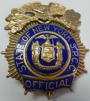 State of New York S.P.C.C. - Official - Chief Style Badge - Defunct Agency 2006