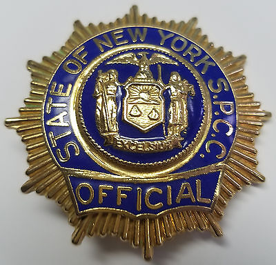 State of New York S.P.C.C. Official - Lieutenant Style Badge Defunct Agency 2006