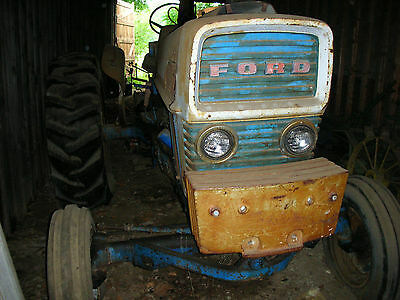 Ford Commander 6000 Farm Tractor and 4 bottom ford plow