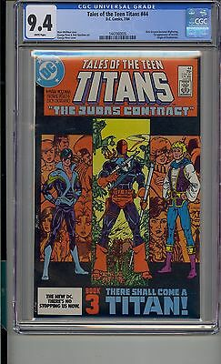 Tales Of The Teen Titans #44 Cgc 9.4 First Nightwing Origin Of Deathstroke Dc