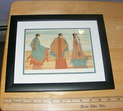 """Framed Signed Art Print """"Going To The Dance"""" ioyan mani Maxine Noel Native"""