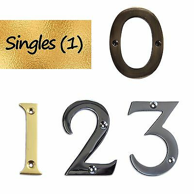 "| Various Finishes | 3"" Tall HQ Solid Brass Individual House Numeral (2270)"