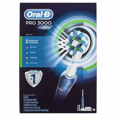 Oral-B Pro 3000 Electrical Toothbrush 3D Action Gum Care Sensitive Whitening