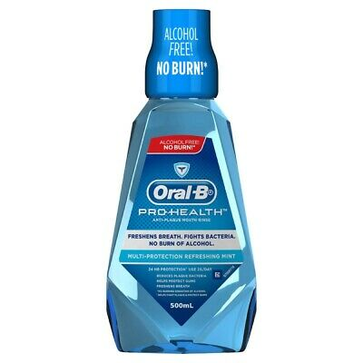 Oral-B Pro Health Anti-Plaque Mouth Rinse 500Ml Multi-Protection Refreshing Mint