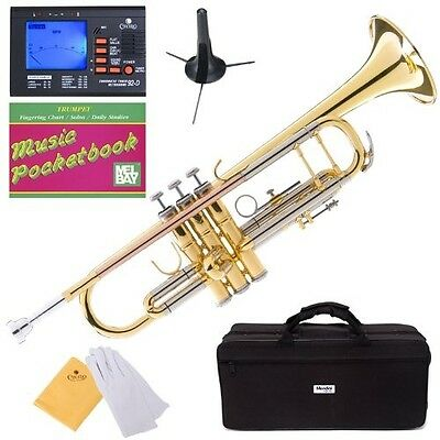 Mendini MTT-30GB Intermediate Double-Braced Bb Trumpet. Delivery is Free