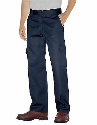 Dickies WP592 Men's Dark Navy Relaxed Straight Leg Cargo Work Pant Workwear