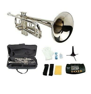 Merano GWD300SV-MT B Flat Trumpet with Case, Mouth Piece, Silver. Brand New
