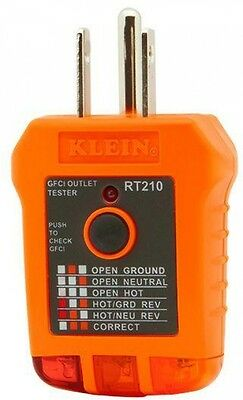 Klein Tools GFCI Receptacle Outlet Tester Meter Electrical Plug-in Tool NEW