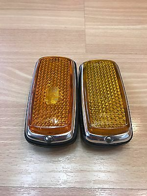 BMW 2002 Front Side Marker Lights 2002tii tii ti 1600 63141351895 63141351896