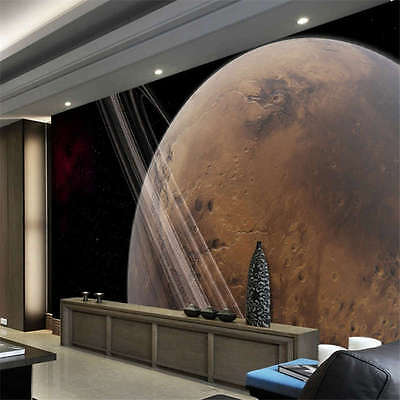 Theme Mars Pictures Sky Full Wall Mural Photo Wallpaper Print Kids Home 3D Decal
