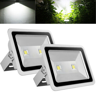2X 300W LED Flood Light Cool White Outdoor Garden Security Lamp Spotlight IP65