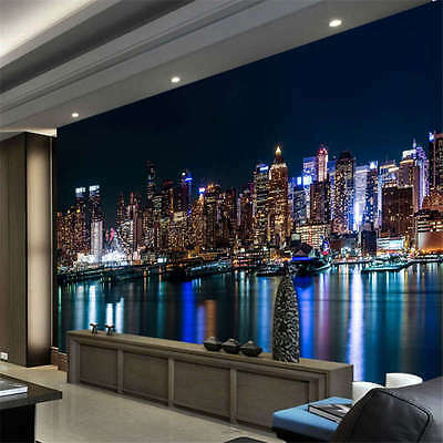 USA Skyscrapers Rivers Full Wall Mural Photo Wallpaper Print Kids Home 3D Decal