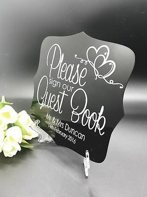 Personalised Wedding Guest Book Acrylic Sign