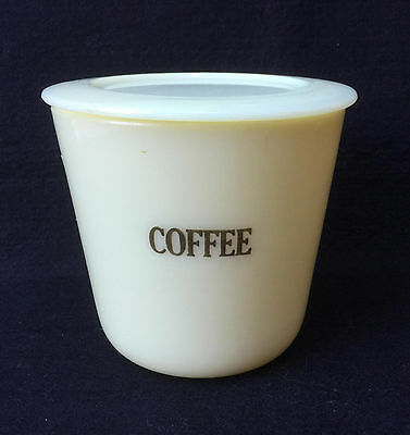 Htf Vintage Mckee French Ivory Custard Glass Round Coffee Canister - Free Ship