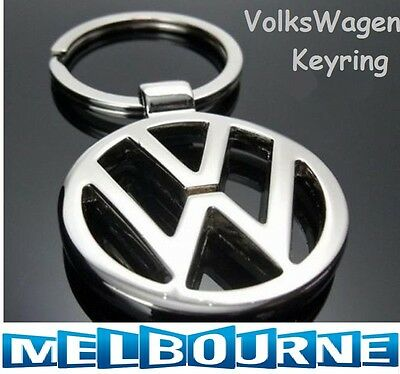 Volkswagen VW Logo Stainless Keyring Key Ring Key Chain Golf Tiguan Polo Gift
