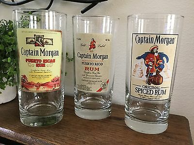 3 Captain Morgan Original Spiced Rum 16 oz. Bar Glasses