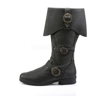 Pirate Captain Hook Jack Sparrow Medieval Renaissance Knight Costume Men's Boots