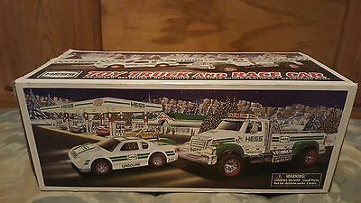 2011 HESS TOY TRUCK AND RACER NEW IN ORIGINAL BOX - SOUNDS, Lights, RAMP