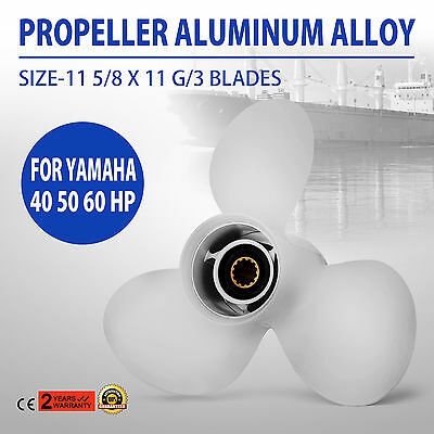 3 Blade YAMAHA 11 5/8 x 11-g NEW Propeller Prop 40-50-60HP OUTBOARDS New
