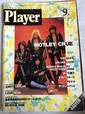 Player 9/1987 #259 Japan Music Magazine Motley Crue Bangles Loudnss