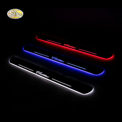 Led door sill for Cadillac ATS-L 2014 2015 Moving LED door scuff plate pedal