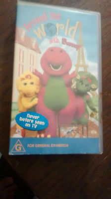 Around The World With Barney - Vhs Video