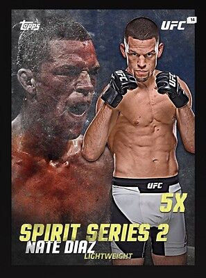 Nate Diaz Spirit 2 Topps UFC Knockout Digital Inserts