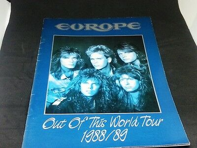 EUROPE Out Of This World Tour Japan Program Photo Book 1988-89