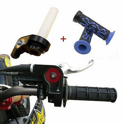 Twist Throttle Housing Grip 50/70/110/125/250cc Dirt Pit Bike ATV Quad Blue