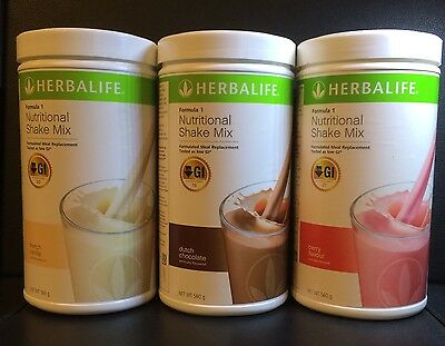 3 Herbalife Formula 1 (F1) 100% Australian Product Choose your Preferred Flavour