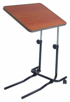 Adjustable Tilting Overbed & Chair Table w Castors for Easy Manoeuvring Sturdy
