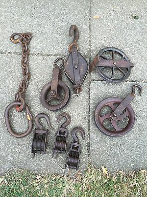 Antique French Pulleys And Chain