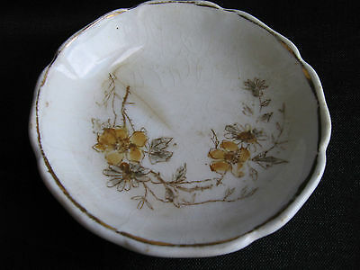 Johnson Brothers England floral ironstone butter pat 1900 antique porcelain