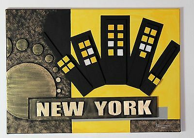 "Künstlerische Collage handgemacht Handarbeit Unikat Dekoration ""New York"""