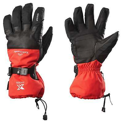 Kathmandu XT Alpine Mens Performance Waterproof Winter Ski Snow Gloves Black Red