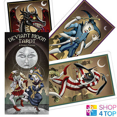 Deviant Moon Tarot Deck Cards Oracle Esoteric Telling Patrick Valenza New