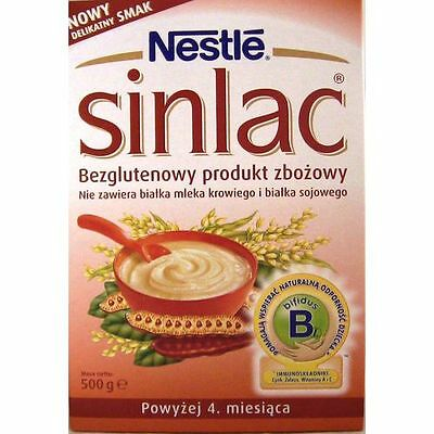 500 g NESTLE SINLAC MASHED allergic INFANT WITHOUT MILK FROM 4 MONTHS