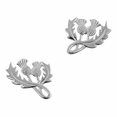 Scottish Thistle Silver Plated Stud Earrings 9198