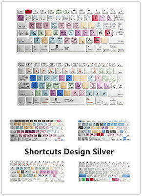 Shortcut Functional Printed Keyboard Cover Skin for MacBook Air Pro Retina 13 15