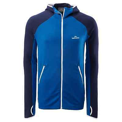 Kathmandu Depart Mens Merino Blend Zip Top Long Sleeve Hooded Active Jacket